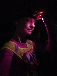 headlamp selfie