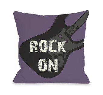 Rock+on+Guitar+Throw+Pillow